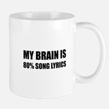 Brain Song Lyrics Mugs