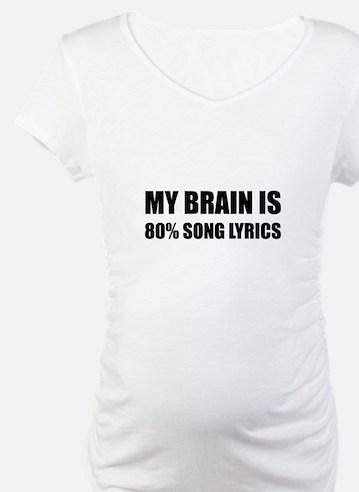 Brain Song Lyrics Shirt
