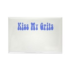 Kiss My Grits Rectangle Magnet