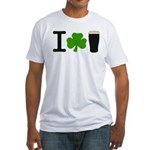 I Love Pints Fitted T-Shirt
