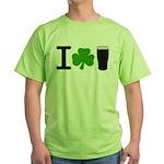 I Love Pints Green T-Shirt