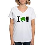 I Love Pints Women's V-Neck T-Shirt