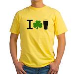 I Love Pints Yellow T-Shirt