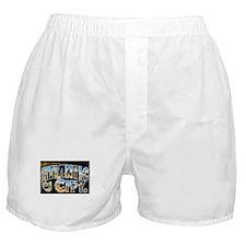 Atlantic City New Jersey NJ Boxer Shorts