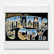 Atlantic City New Jersey NJ Tile Coaster