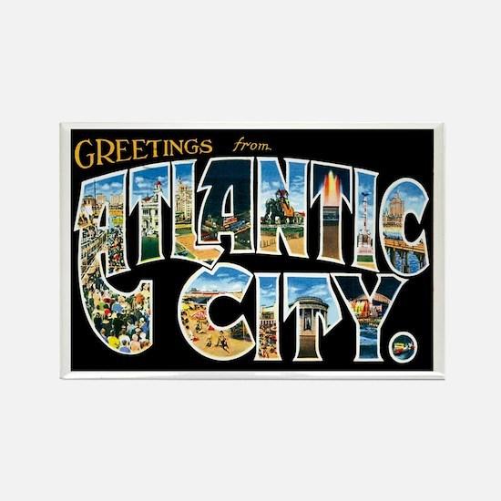 Atlantic City New Jersey NJ Rectangle Magnet