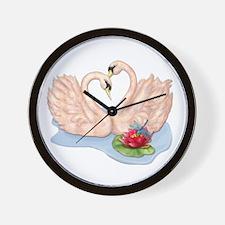 Swan Pair Wall Clock