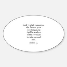 GENESIS 17:11 Oval Decal