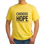 Choose Hope: Not A Political Yellow T-Shirt