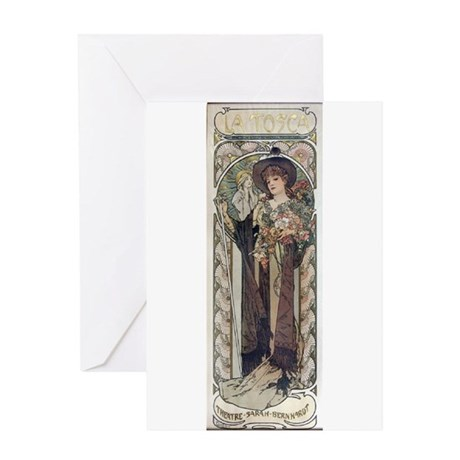 Sarah Bernhardt in Tosca Greeting Card