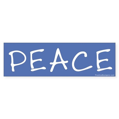 Peace on blue (handwritten)