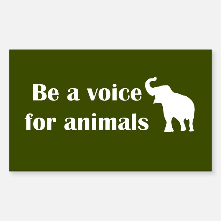Be a voice Rectangle Sticker 50 pk)