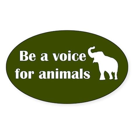 Be a voice Oval Sticker (10 pk)