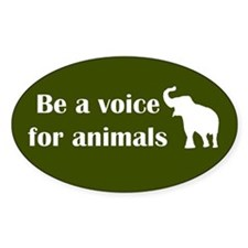 Be a voice Oval Bumper Stickers