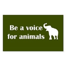 Be a voice Rectangle Bumper Stickers