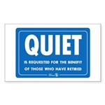 Quiet! Rectangle Sticker 10 pk)