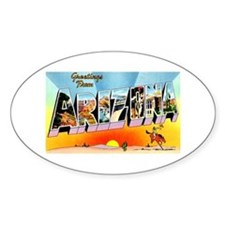 Arizona State Greetings Oval Decal