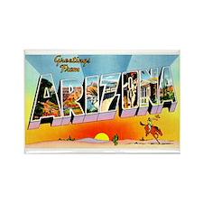 Arizona State Greetings Rectangle Magnet (10 pack)