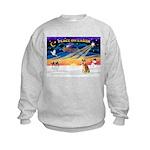 XmasSunrise/Shiba Inu 3 Kids Sweatshirt