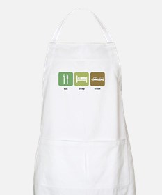 Eat Sleep Crash Cars BBQ Apron