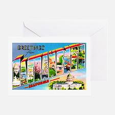 Sacramento California Greetings Greeting Card