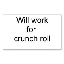 Crunch Roll Rectangle Decal