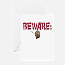 BEWARE: RAT! Greeting Card