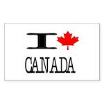 I Heart Canada Rectangle Sticker 10 pk)