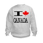 I Heart Canada Kids Sweatshirt