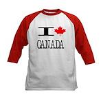I Heart Canada Kids Baseball Jersey