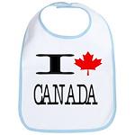 I Heart Canada Bib