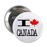 """I Heart Canada 2.25"""" Button (100 pack)"""
