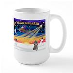 XmasSunrise/Poodle (min) Large Mug