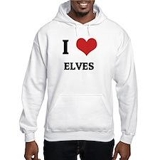 I Love Elves Hoodie