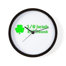 1/8 Irish, 8/8 Drunk Wall Clock