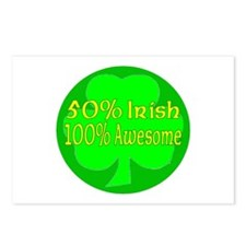50% Irish, 100% Awesome Postcards (Package of 8)