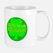 50% Irish, 100% Awesome Mug