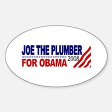 Joe the Plumber for Obama Oval Decal