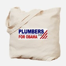 Plumbers for Obama 2008 Tote Bag