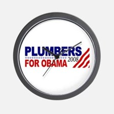 Plumbers for Obama 2008 Wall Clock