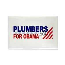Plumbers for Obama 2008 Rectangle Magnet