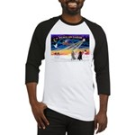 XmasSunrise/3 Std Poodles Baseball Jersey