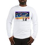 XmasSunrise/3 Std Poodles Long Sleeve T-Shirt