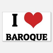 I Love Baroque Rectangle Decal