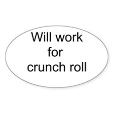 Crunch Roll Oval Decal