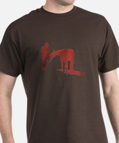 Girl And Pony (Pink) T-Shirt