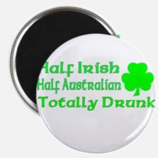 "Half Irish, Half Australian, 2.25"" Magnet (10 pack"