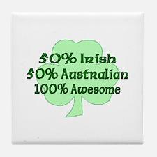 50% Irish, 50% Australian, 10 Tile Coaster