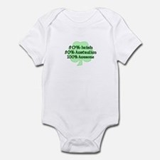 50% Irish, 50% Australian, 10 Infant Bodysuit