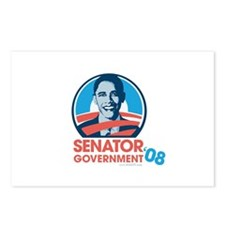 Obama is Senator Government Postcards (Package of